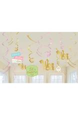 Amscan Confetti fun hangdecoratie 12 stuks