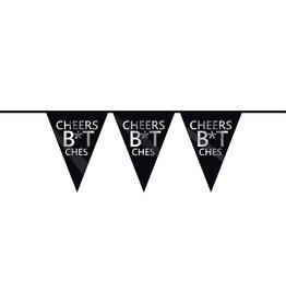 The party factory vlaggenlijn Cheers B*tches 6 meter