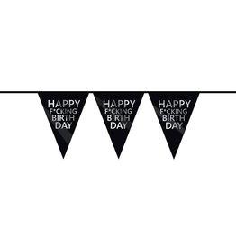 The party factory vlaggenlijn Happy f*cking birthday 6 meter