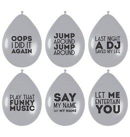 Party factory ballonnen song quotes 6 stuks