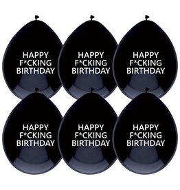 The party factory ballonnen happy f*cking birthday 6 stuks