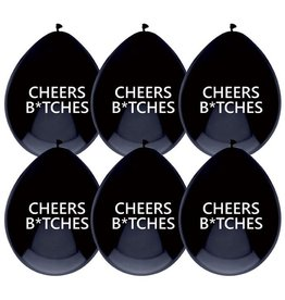 The party factory ballonnen cheers b*tches 6 stuks