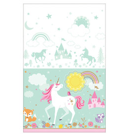 Amscan tafelkleed unicorn 137cm x 243cm