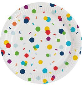 Amscan confetti borden 18 cm 8 stuks