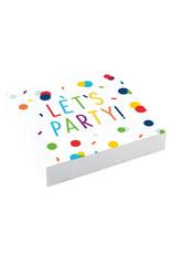 Amscan confetti servetten let's party 20 stuks