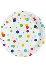 Amscan confetti borden 23 cm 8 stuks