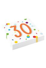 Amscan confetti servetten 30 jaar 20 stuks