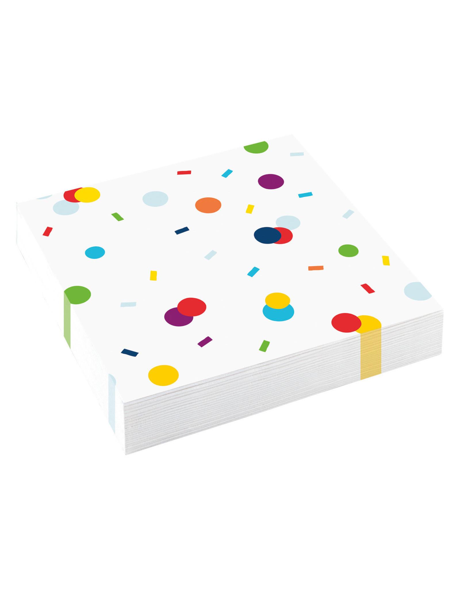Amscan confetti servetten 20 stuks