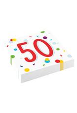 Amscan confetti servetten 50 jaar 20 stuks