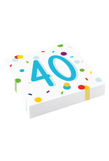 Amscan confetti servetten 40 jaar 20 stuks
