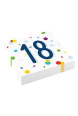 Amscan confetti servetten 18 jaar 20 stuks