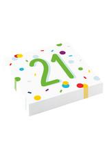 Amscan confetti servetten 21 jaar 20 stuks
