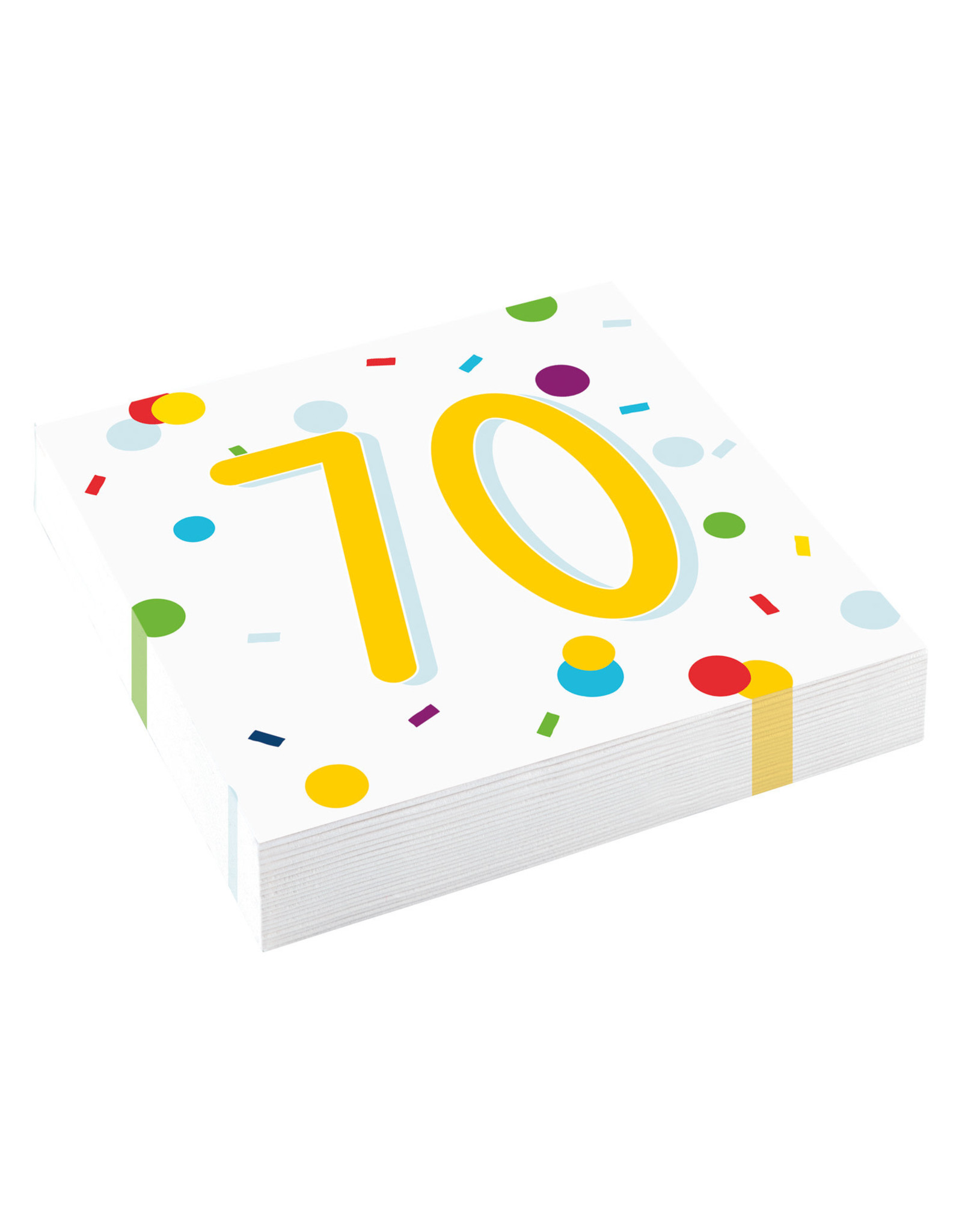 Amscan confetti servetten 70 jaar 20 stuks