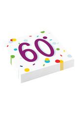 Amscan confetti servetten 60 jaar 10 stuks