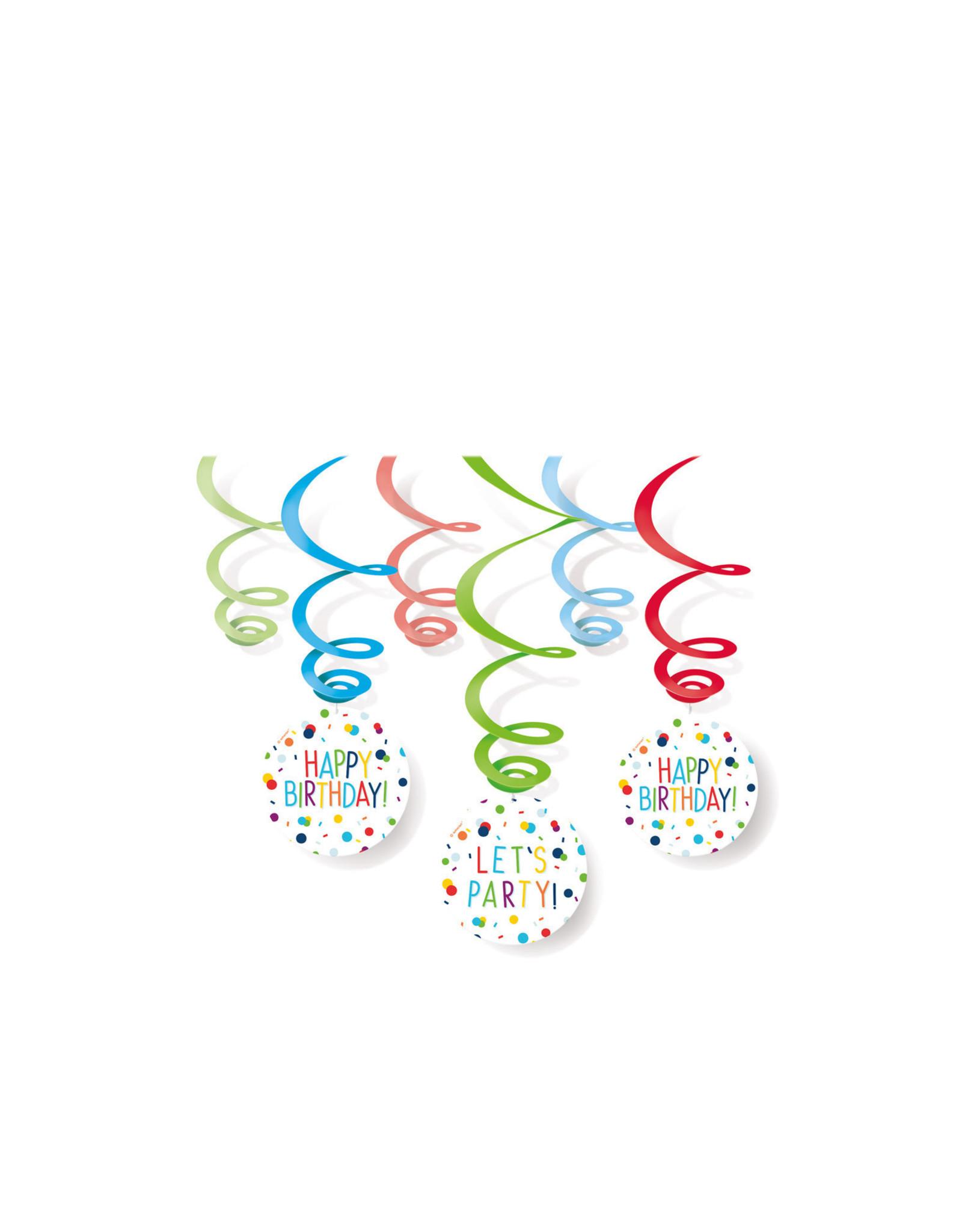 Amscan confetti hangdecoratie 6-delig