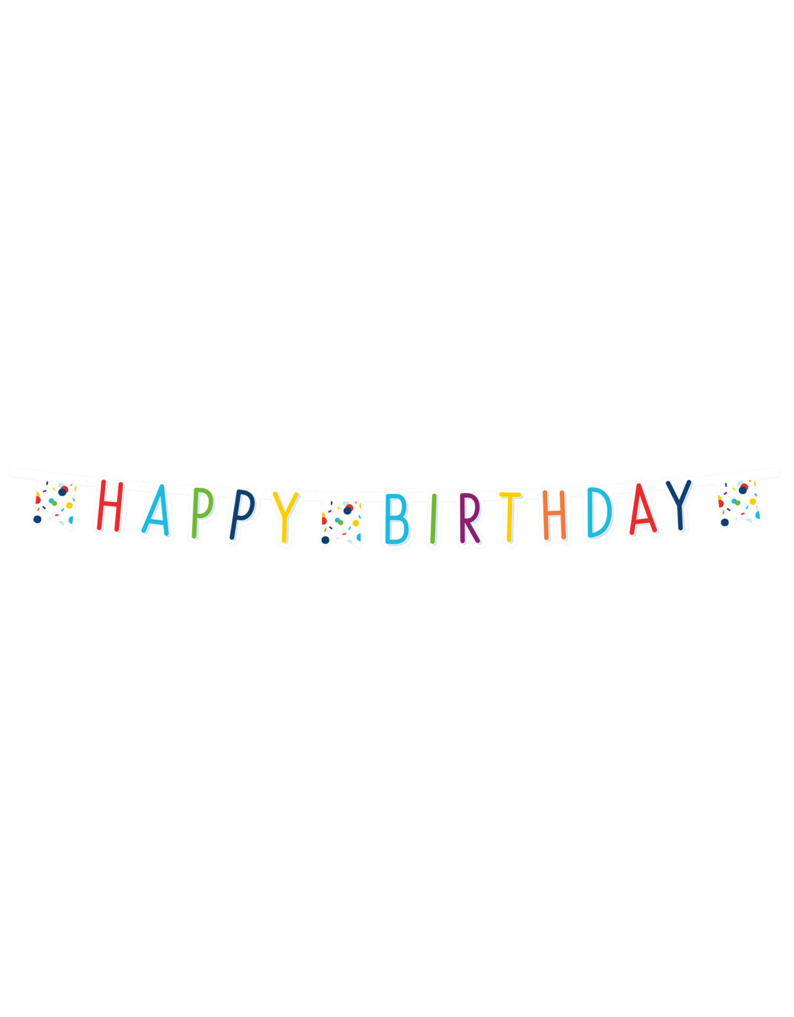 Amscan confetti letterslinger happy birthday 1.80 meter