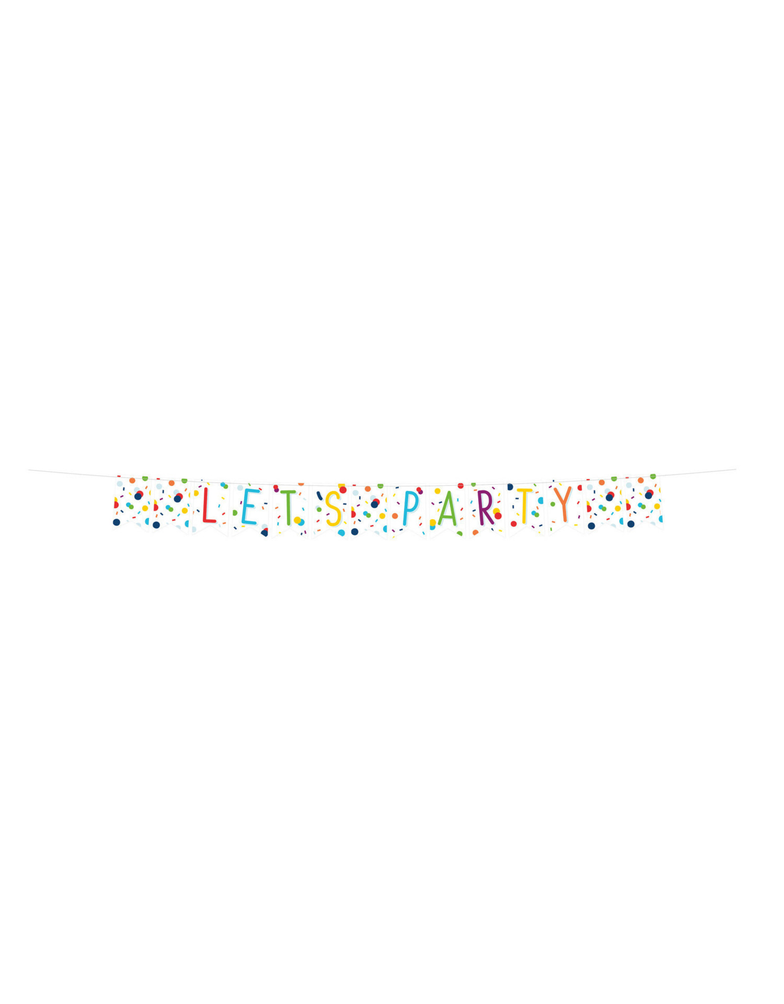 Amscan confetti letterslinger let's party 1.80 meter
