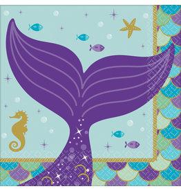 Amscan mermaid wishes servetten 16 stuks