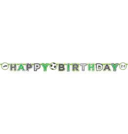 Amscan letterslinger happy birthday voetbal 2 meter