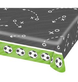 Amscan papieren tafelkleed voetbal 1.75 x 1.15 meter