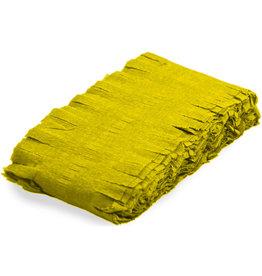 Crêpe slinger geel 6 meter