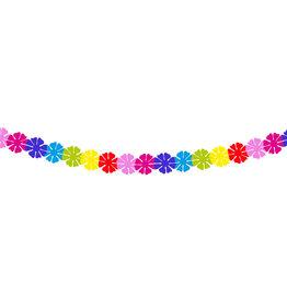 Papieren slinger klein bloemen 2 meter