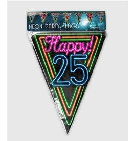 Neon vlaggenlijn 25 jaar 10 meter