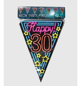 Neon vlaggenlijn 30 jaar 10 meter
