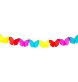 Papieren slinger klein vlinder 2 meter