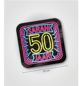 Neon onderzetters nr 09 Sarah 6 stuks