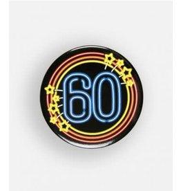 Neon button klein nr 10 60 jaar
