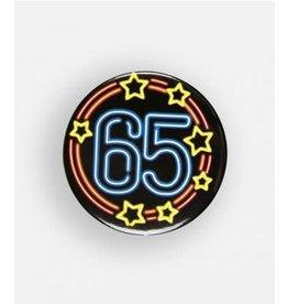 Neon button klein nr 11 65 jaar