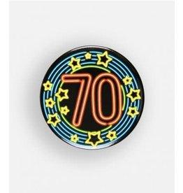 Neon button klein nr 12 70 jaar