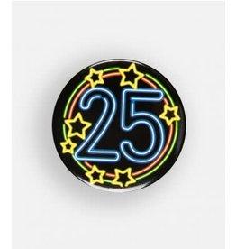 Neon button klein nr 4 25 jaar