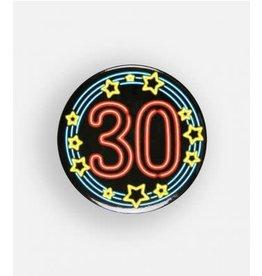 Neon button klein nr 5 30 jaar