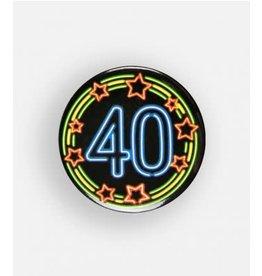 Neon button klein nr 6 40 jaar