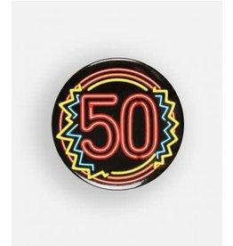 Neon button klein nr 7 50 jaar