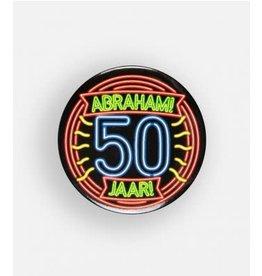 Neon button klein nr 8 Abraham 50 jaar