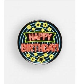 Neon button klein nr 13 Happy Birthday