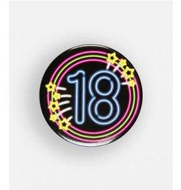 Neon button klein nr 2 18 jaar