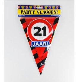 Verkeersbord vlaggenlijn 21 jaar 10 meter