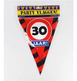 Verkeersbord vlaggenlijn 30 jaar 10 meter