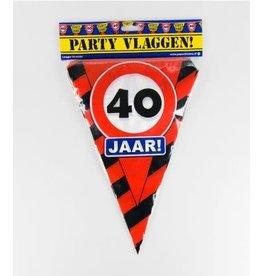 Verkeersbord vlaggenlijn 40 jaar 10 meter