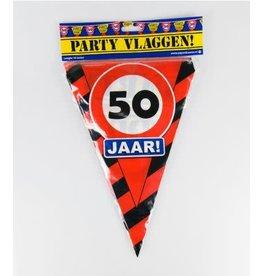 Verkeersbord vlaggenlijn 50 jaar 10 meter