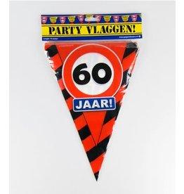 Verkeersbord vlaggenlijn 60 jaar 10 meter