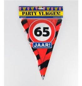 Verkeersbord vlaggenlijn 65 jaar 10 meter