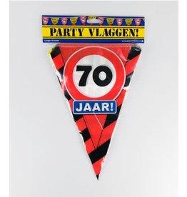 Verkeersbord vlaggenlijn 70 jaar 10 meter