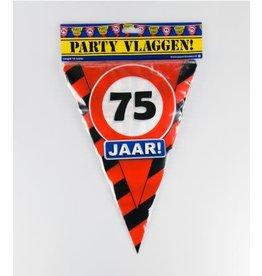 Verkeersbord vlaggenlijn 75 jaar 10 meter