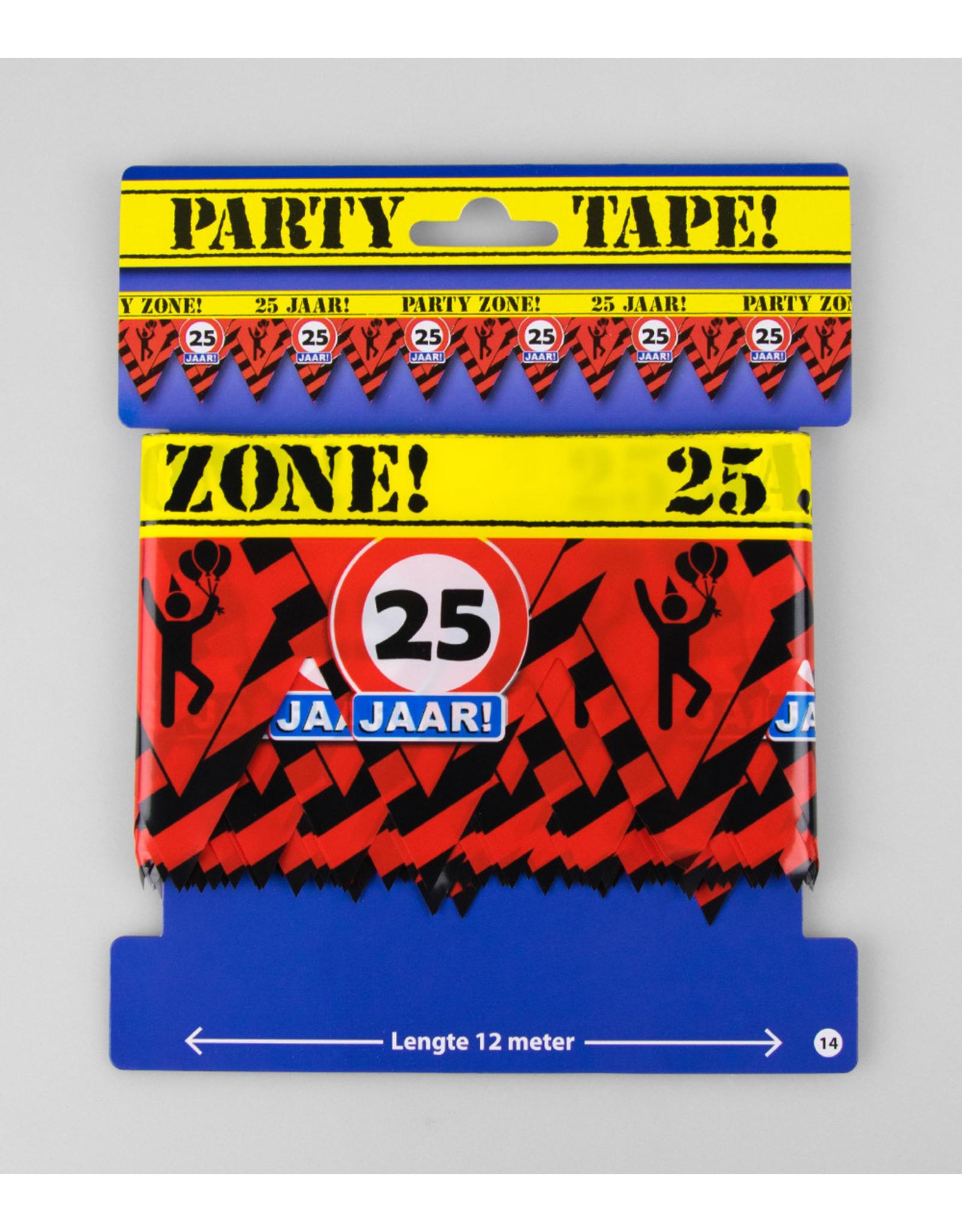Afzetlint party zone 25 jaar