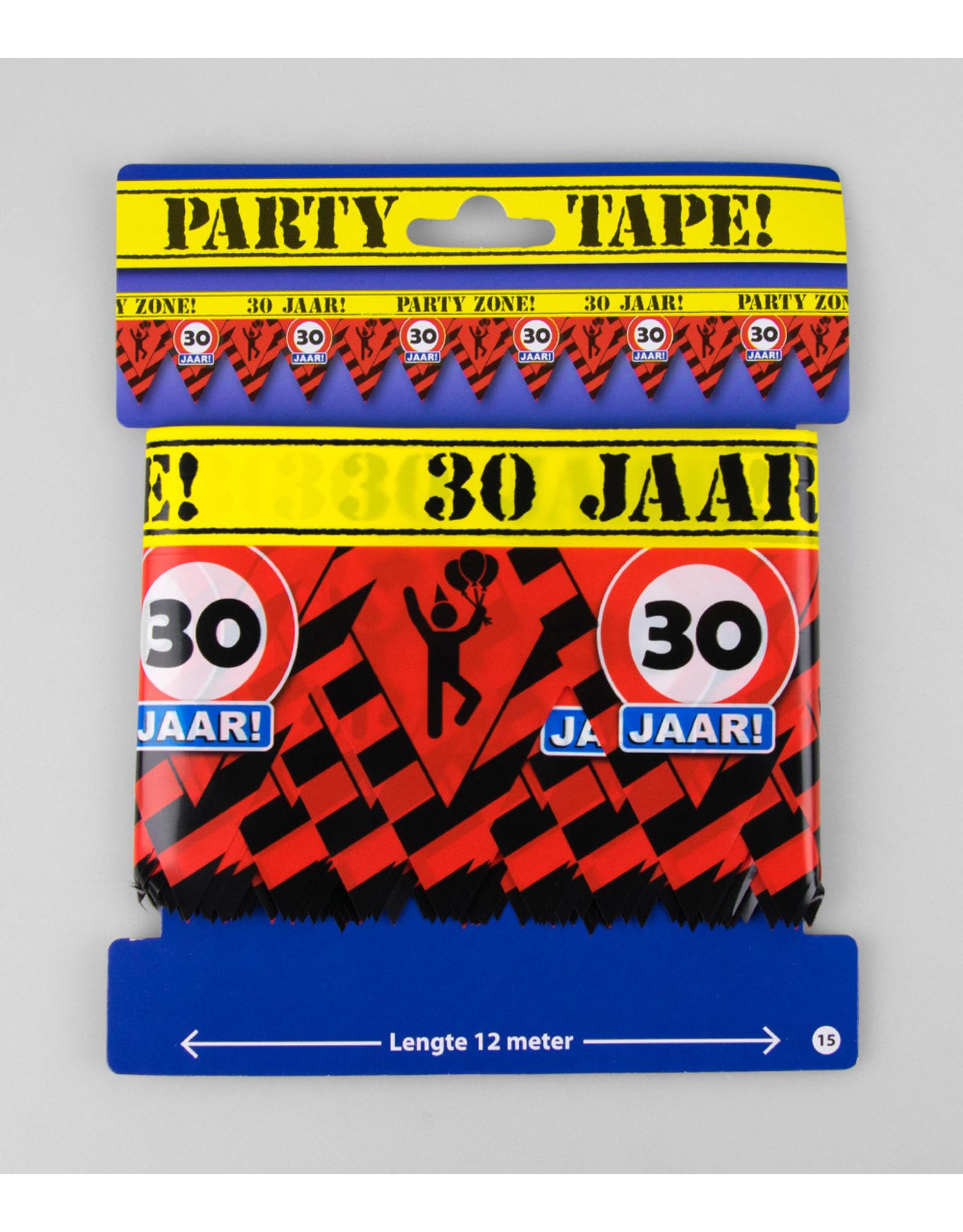 Afzetlint party zone 30 jaar